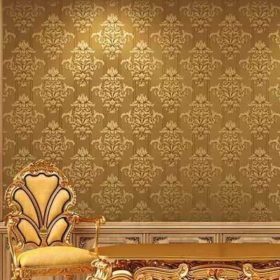 Modern European Gold Foil Wallpaper Reflective Bedroom Living Room TV Background Wall Paper Special Offer Free Shipping